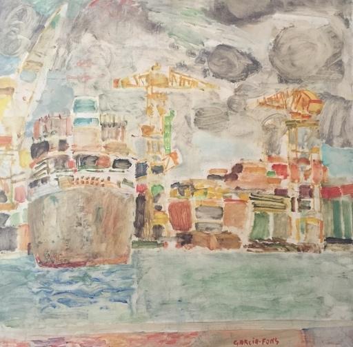 Pierre GARCIA-FONS - Peinture - Port de Dunkerque