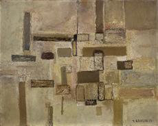 Tadeusz LAPINSKI - Peinture - Untitled Abstract