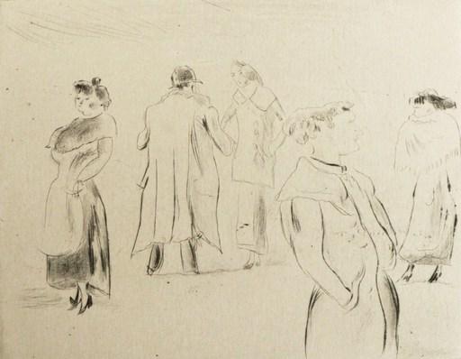 Jules PASCIN - Stampa-Multiplo - Dans la rue 1912
