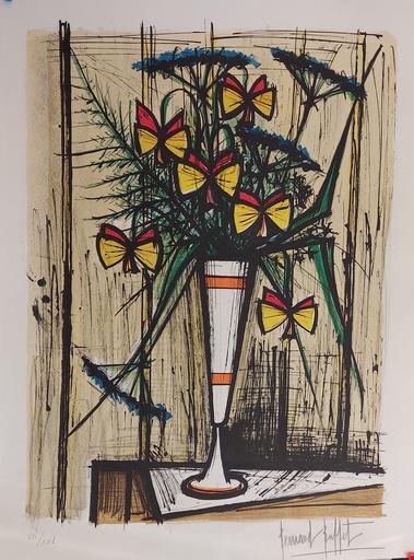 贝纳•毕费 - 版画 - Les fleurs papillons
