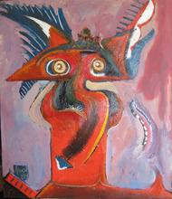 Abol ATIGHETCHI - Gemälde - LE GENERAL DIABLE II