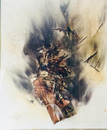 CÉSAR - Peinture - Combustion