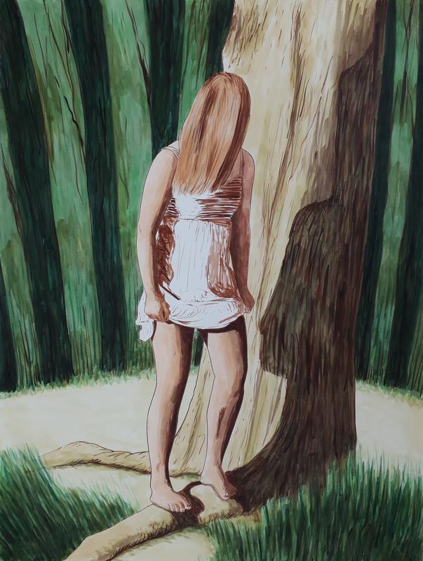 Erlend STEINER LOVISA - Painting - Anne-Margot 3    (Cat N° 6334)