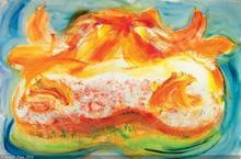 Jean MESSAGIER - Painting - SOUS LE MUFLE D'UNE GENISSE