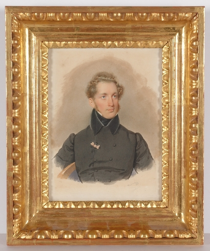 "Josef KRIEHUBER - Painting - ""Portrait of an Aristocrat"", 1833, Watercolor"