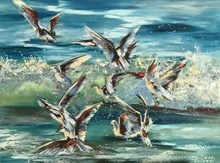 Diana MALIVANI - Pittura - Gulls