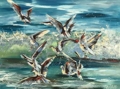 Diana MALIVANI - Pintura - Gulls