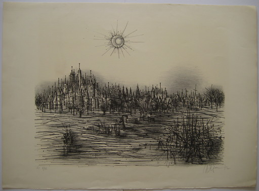 Jean CARZOU - Print-Multiple - LITHOGRAPHIE 1972 SIGNÉE CRAYON HC/VII HANDSIGNED LITHOGRAPH