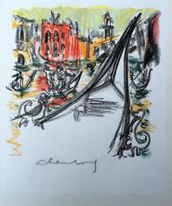 André HAMBOURG - Drawing-Watercolor