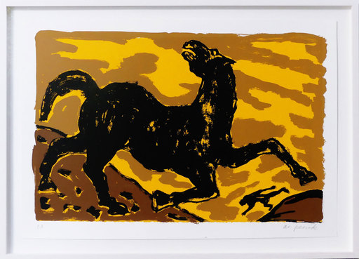 A.R. PENCK - Estampe-Multiple - Pferd