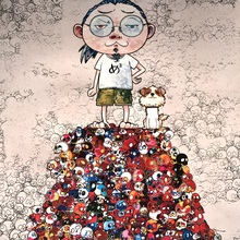 Takashi MURAKAMI - Print-Multiple - Pom & Me: On the Red Mound of the Dead