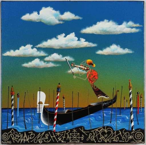 MELONISKI - Peinture - Serenata veneziana