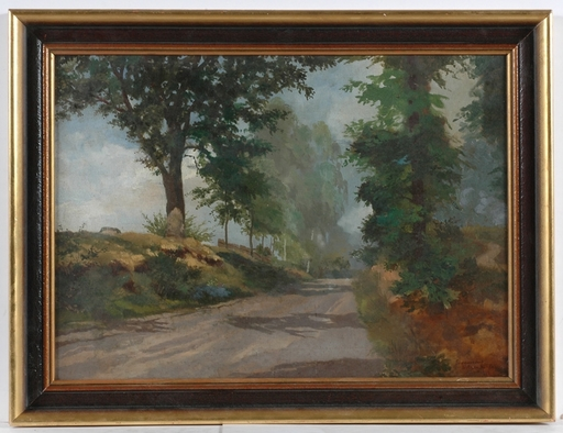"Wilhelm KIMBEL - Peinture - ""Motif of Erdmannsdorf"", 1918, Oil"