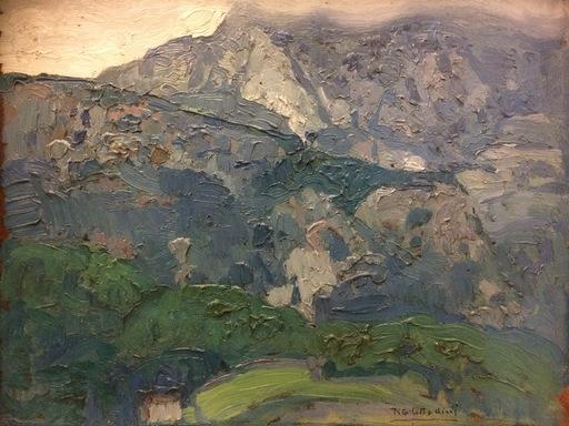 Tito CITTADINI - Painting - PAISAJE MONTAÑOSO