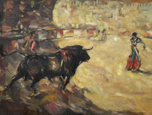 Eduardo PISANO - Painting - Corrida