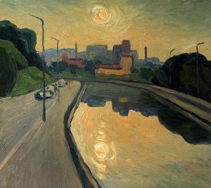 Valeriy NESTEROV - Peinture - Yauza river. Moscow