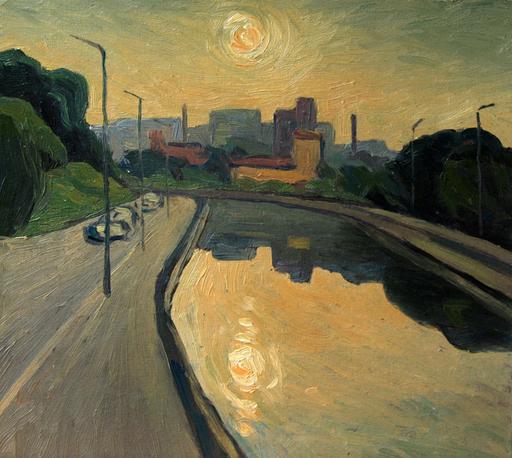 Valeriy NESTEROV - Painting - Yauza river. Moscow