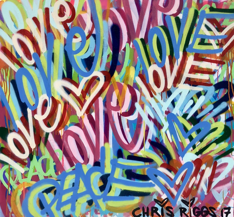 Chris RIGGS - Painting - Love 1