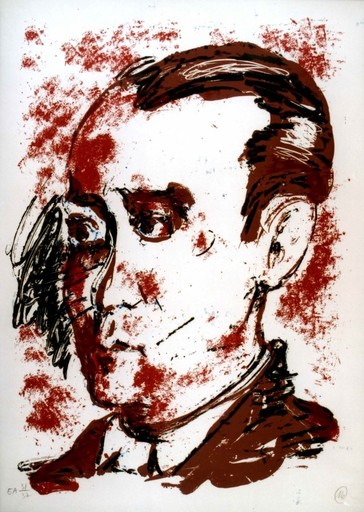 Markus LÜPERTZ - Stampa-Multiplo - Homage to Federico Garcia Lorca