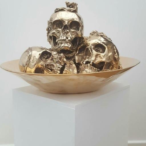 菲利普·帕斯夸 - 雕塑 - coupelle de vanités