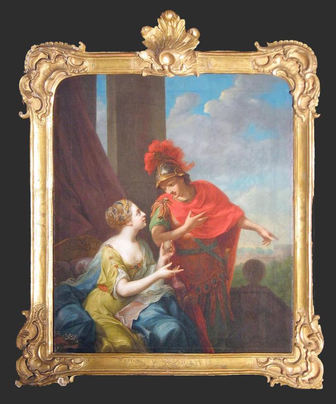 Johann Heinrich I TISCHBEIN - Pintura - Theseus und Ariadne