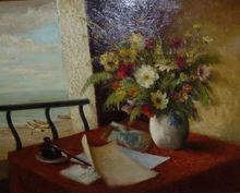 Marcel DYF - Painting -  dit Marcel Dyf vase de fleur