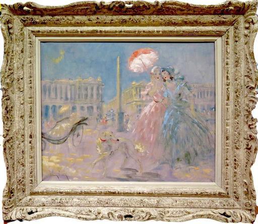 Louis ICART - Peinture - Place de la Concorde