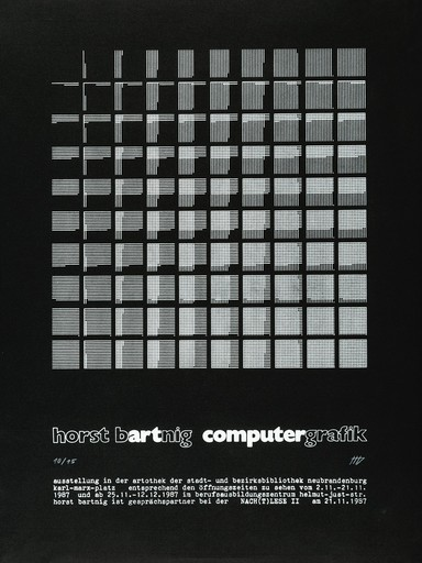 Horst BARTNIG - Grabado - Computer grafik