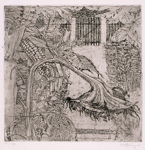 Ernst KOSSLINGER - Estampe-Multiple - Garten im Herbst