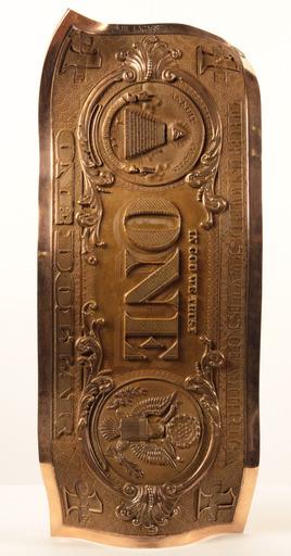 Karl LAGASSE - Sculpture-Volume - One dollar bronze