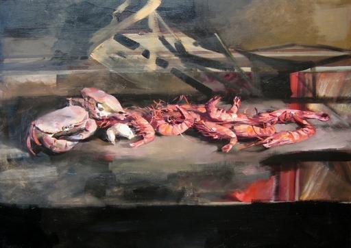 Christoff DEBUSSCHERE - Pintura - Les bouquets et les crabes