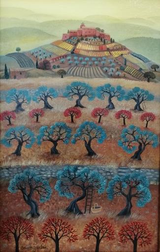 F.B. BAUMGARTEN - Painting - Lumières d'automne sur les Roux
