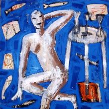 Jorge CABEZAS - Painting - en el bar