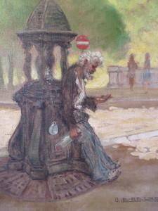 Gaston LE BEUZE - Painting - Fontaine Wallace.Paris