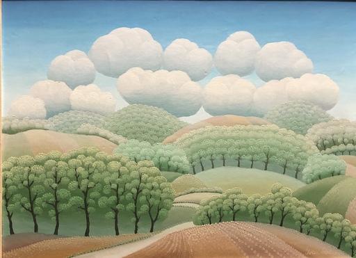 Ivan RABUZIN - Peinture - Bäume Wolken und Hügel