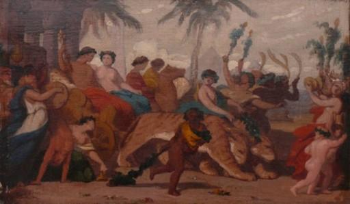Thomas COUTURE - Painting - Bacchantenzug vor den Pyramiden