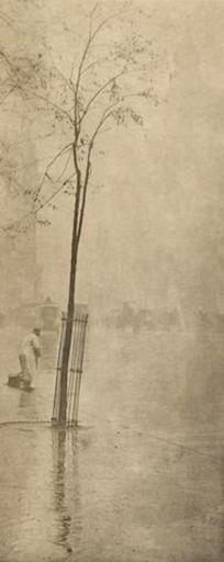 Alfred STIEGLITZ - Photography - Spring Showers-The Street Cleaner, New York