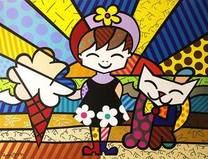 Romero BRITTO - Pintura - Brianna