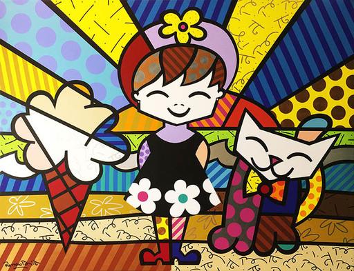 Romero BRITTO - Peinture - Brianna