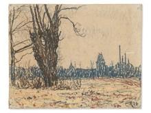 Christian ROHLFS (1849-1938) - Landscape in Weimar