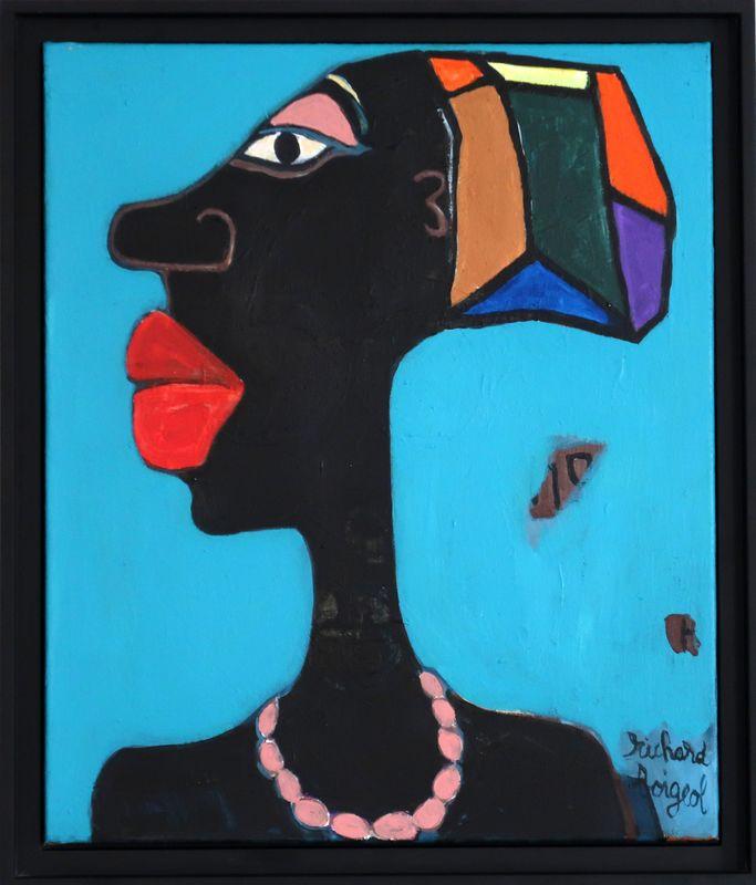 Richard BOIGEOL - Peinture - L'AFRICAINE