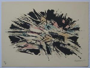 Alfred MANESSIER - Estampe-Multiple - LITHOGRAPHIE 1971 SIGNÉ CRAYON NUM/85 HANDSIGNED LITHOGRAPH