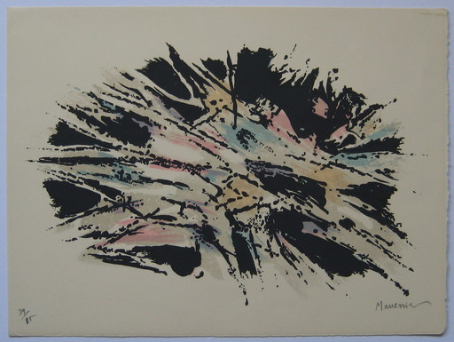 Alfred MANESSIER - Print-Multiple - LITHOGRAPHIE 1971 SIGNÉ CRAYON NUM/85 HANDSIGNED LITHOGRAPH
