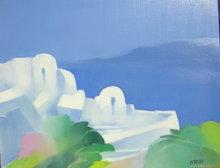 Freddy DEFOSSEZ - Painting - Paysage grec
