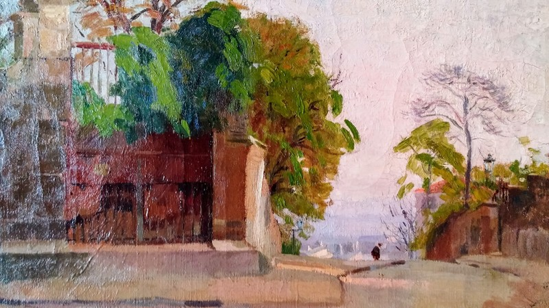 Elie Anatole PAVIL - Painting - View in Montmartre