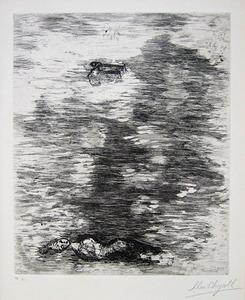"""Marc CHAGALL, """"La femme noyée"""" (C. bk. 22)"""
