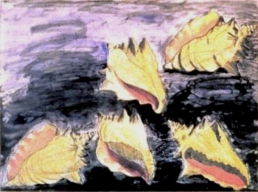 Jim DINE - Print-Multiple - Five Shells