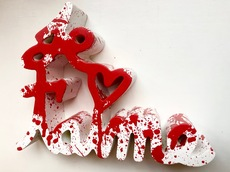 MR BRAINWASH - Escultura - Je t`aime Splash red