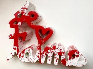 MR BRAINWASH - Escultura - Je t`aime Splash red