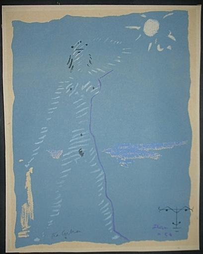 Jean COCTEAU - 版画 - Sous le manteau de feu IV